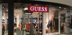 Guess Saves 30% on Store Fixtures